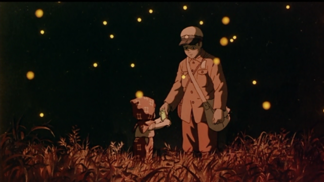 ฉากหนึ่งใน การ์ตูนอะนิเมชั่นค่าย Glibli Grave of the Fireflies