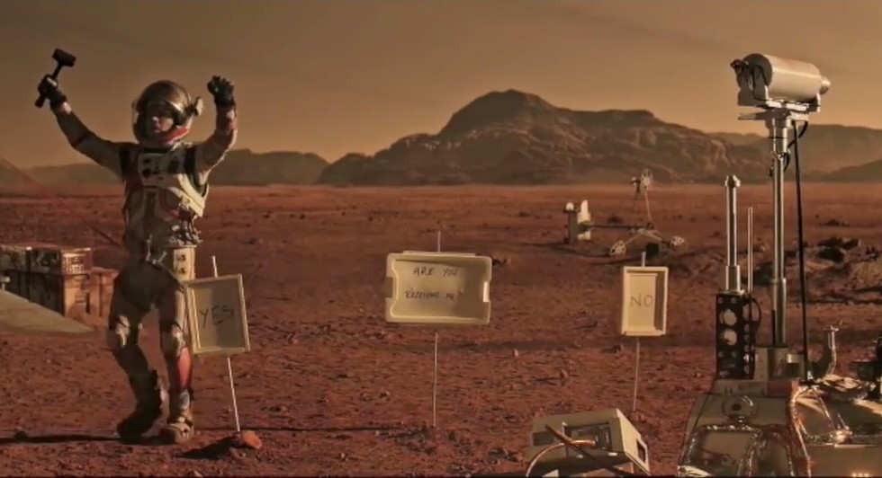 การสื่อสารบนดาวอังคารจากหนัง เดอะ มารส์เทียน