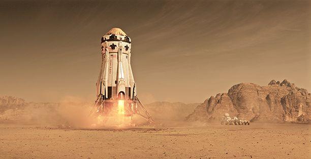 ยานอวกาศ ดาวอังคาร จาก เดอะ มารส์เทียน