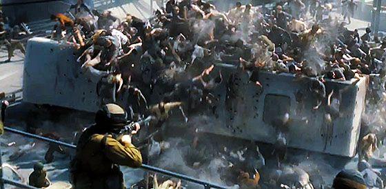 ฉากต่อสู้ซอมบี้จาก รีวิว World War Z (2013)