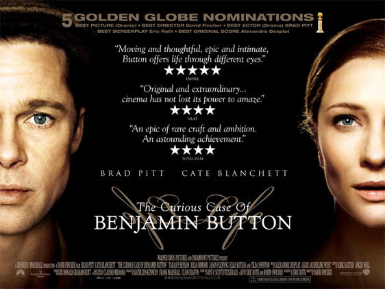 Benjamin Button รางวัลออสการ์ 3 สาขา เข้าชิงอีกกว่า 13 สาขา